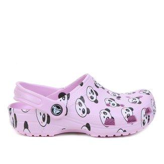 Crocs Infantil Classic Panda Print Clog K Feminino