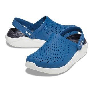 Crocs - Unisex Literide clog - Vivid blue/Almost white