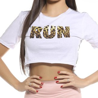 Cropped Fitness SSTYLE Estampa Run Feminino