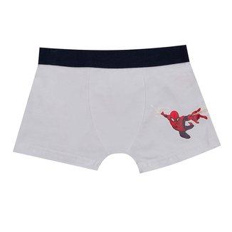 Cueca Boxer Infantil Evanilda Spiderman Marvel Masculina