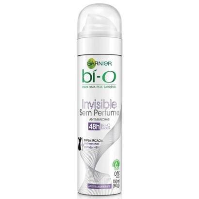Desodorante Garnier Aerosol Bí-O Invisible Sem Perfume 150ml