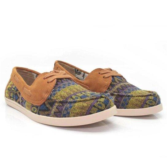 Dockside Casual Feminino Barth Shoes África Macio Dia a Dia - Azul