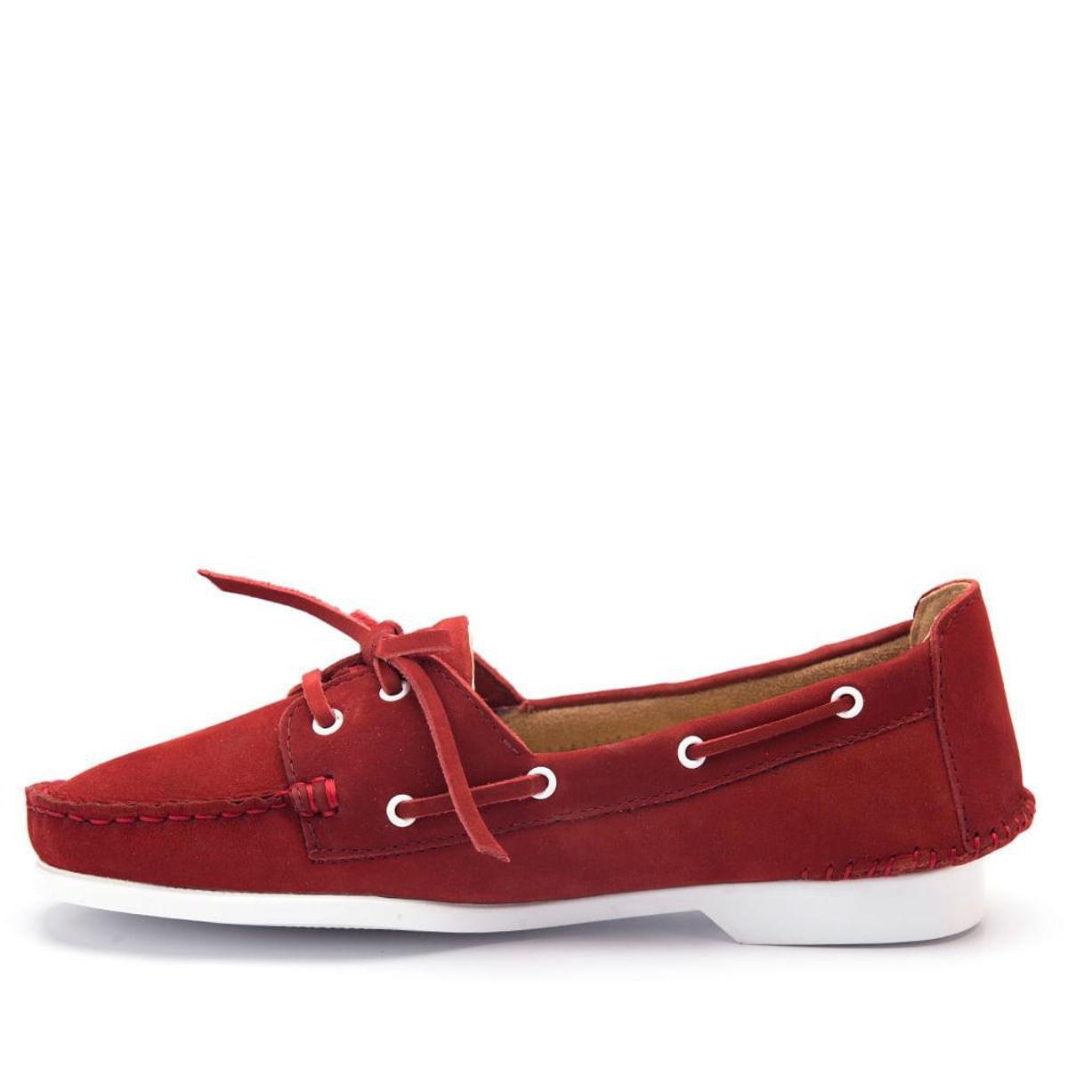 Doctor Couro 50701 Feminino Shoes Dockside Vermelho Dockside Feminino Nobuck em qPT0wZ