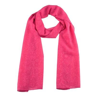 Echarpe Chá De Mulher Lenço Pink Pashmina Chiffon-Feminino