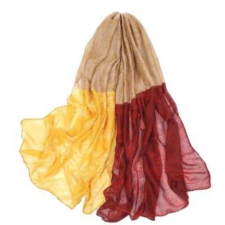 Echarpe Lenço Estampado Tricolor Feminino