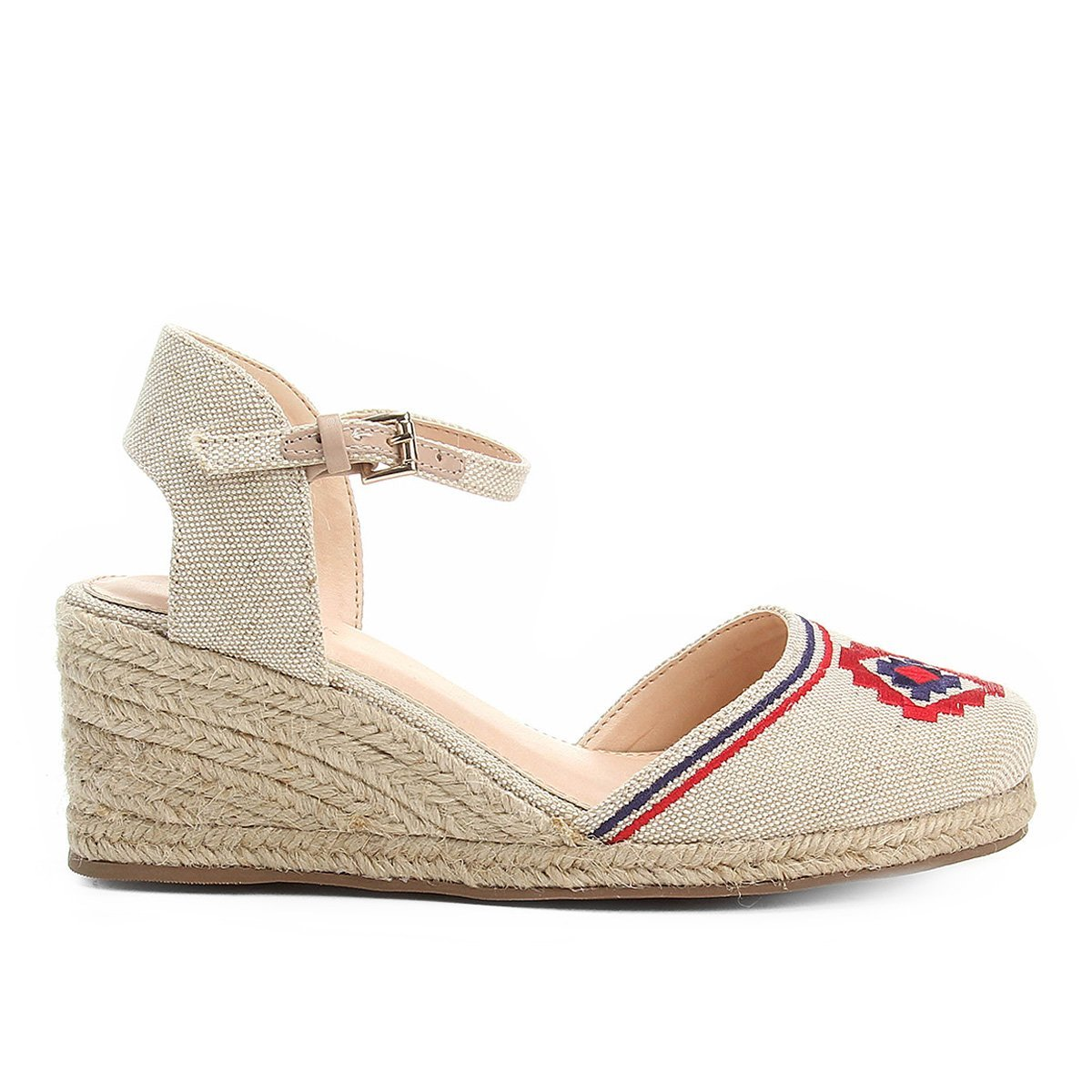 Espadrille Shoestock Shoestock Espadrille Anabela White Bordada Feminina Off rwr4STqHx