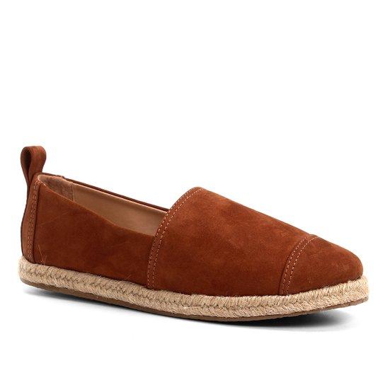 Espadrille Shoestock Camurça Feminina - Caramelo