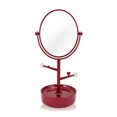 Espelho de Mesa Com Compartimento para jóias Jacki Design de Polipropileno