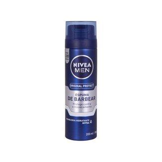 Espuma de Barbear Nivea Men Original Protect - 200ml