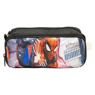Estojo Escolar Duplo Xeryus Spider Man Flex Masculino