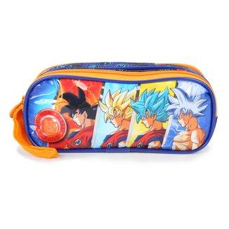 Estojo Escolar Infantil Clio Style Duplo Dragon Ball Super
