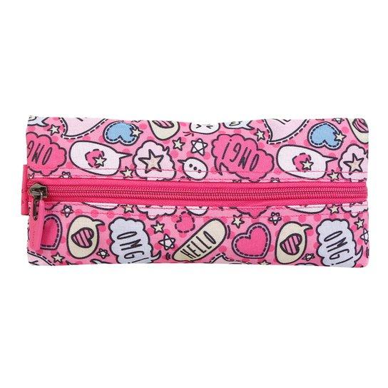 Estojo Escolar Xeryus Flat Teen - Pink