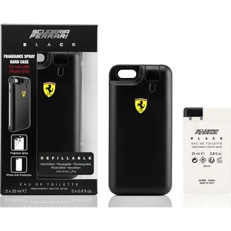 Ferrari Kit Masculino Capa de Iphone 6/6S Black EDT 25ml + Refil 25ml