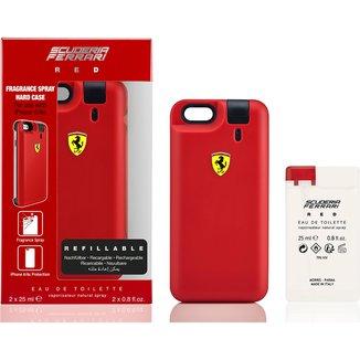 Ferrari Kit Masculino Capa de Iphone 6/6S RED EDT 25ml + Refil 25ml