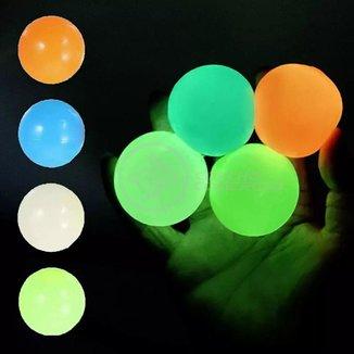 Fidget Toy Bolinha Globble Anti Stress de Apertar do TikTok Luminosa Fluorecente Gruda Teto e Parede
