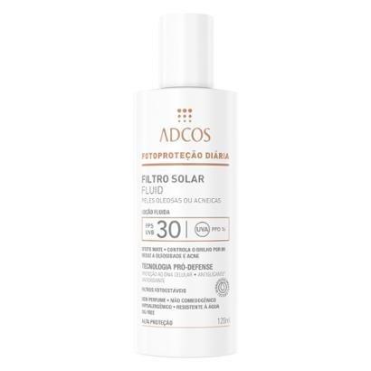 Filtro Solar Adcos Fluid FPS30 Peles Oleosas e Acneicas 120ml