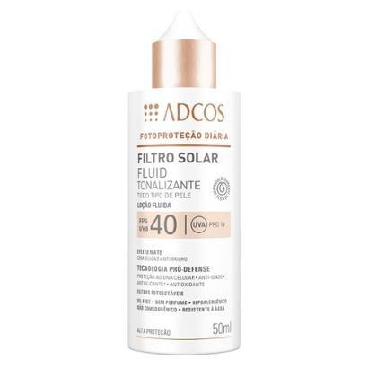 Filtro Solar Adcos Fluid Tonalizante Fps40 Nude