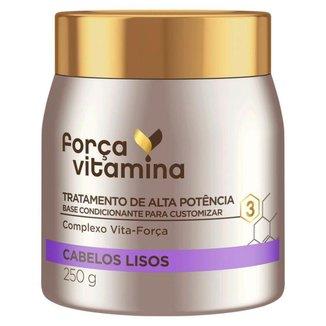 Força Vitamina Máscara de Tratamento para Cabelos Lisos 250g