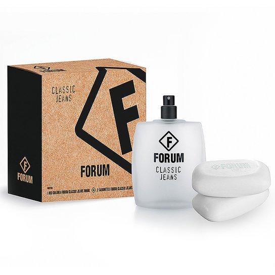 Forum Kit Jeans Unissex Deo Colônia 100ml + 2 Sabonetes 90g - Incolor