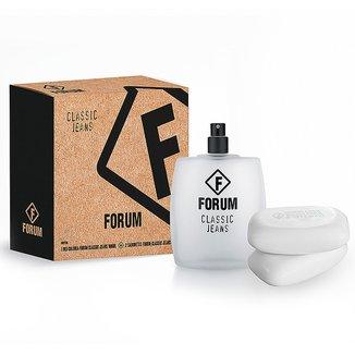 Forum Kit Jeans Unissex Deo Colônia 100ml + 2 Sabonetes 90g