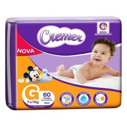 Fralda Cremer Disney Baby Tam. G - 7 a 11kg 60 Unidades