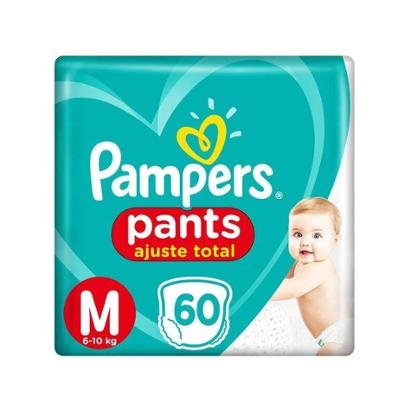 Fralda Pampers Ajuste Total Pants Calça Tam. M - 6 a 10kg 60 Unidades