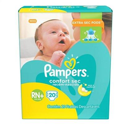 Fralda Pampers Confort Sec Rn Plus 20 Unidades