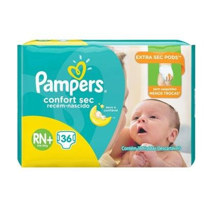Fralda Pampers Confort Sec Rn Plus 36 Tiras