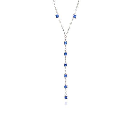 Gargantilha Bijoulux Gravata Elo Português Rommanel - Azul