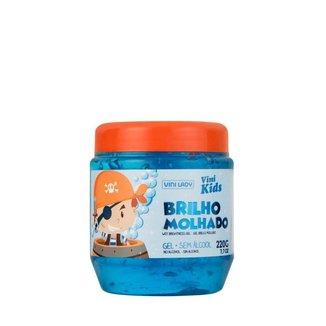 Gel para Cabelo Vini Kids Brilho Molhado Azul 220g Vini Lady