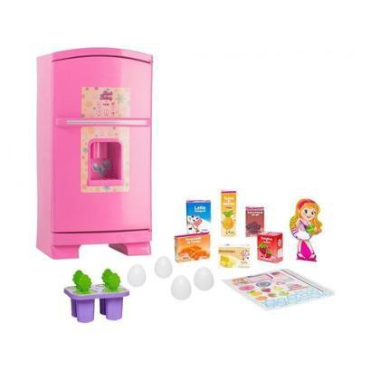Geladeira de Brinquedo Sweet Fantasy Sonho de Menina - 13 Peças