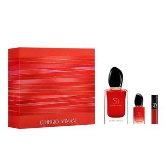 Giorgio Armani Sì Passione Kit ? Perfume Feminino EDP + Batom Líquido + Miniatura Kit