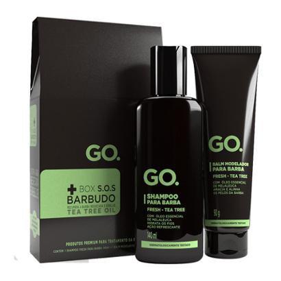 Go SOS Barbudos Kit Shampoo + Balm Modelador Kit