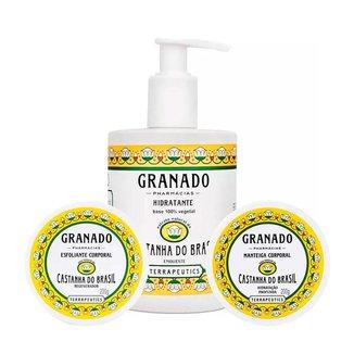 Granado Castanha do Brasil Kit - Esfoliante + Hidratante + Manteiga Corporal Kit