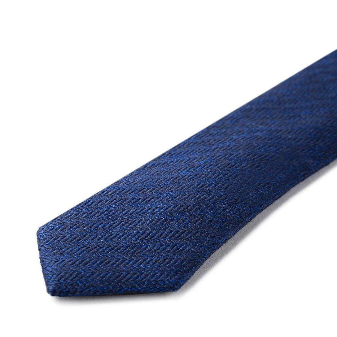 Gravata Slim Azul - Seda