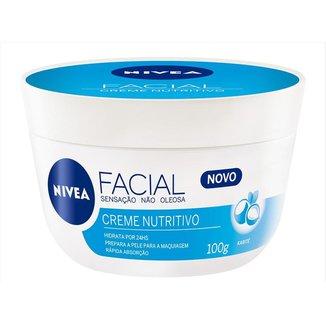 Hidratante Facial Nívea - Creme Facial Nutritivo 100g