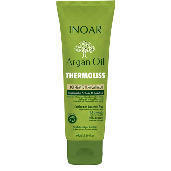 Inoar Defrizante Termoativo Argan 240ml - Incolor