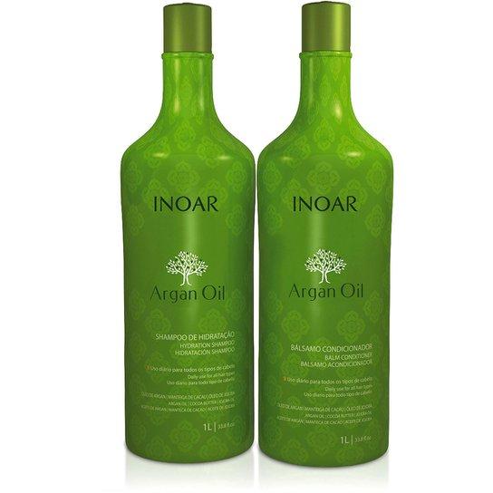 Inoar Kit Shampoo 1L + Condicionador 1L Argan - Incolor