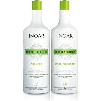 Inoar Kit Shampoo 1L + Condicionador 1L Herbal Solution