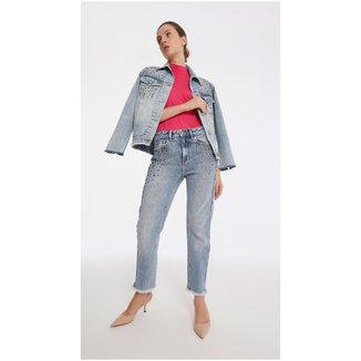 Iodice Calca Boyfriend Cos Intermediario Com Termocolante Jeans