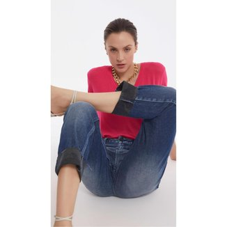 Iodice Calça Iódice Boyfriend Cós Intermediário Com Puídos Jeans
