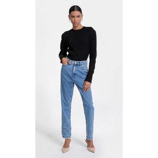 Iodice Calça Iódice Mom Cós Alto Tradicional Jeans
