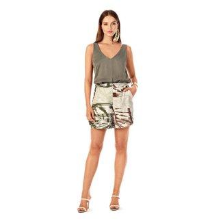 Iodice Shorts Iódice Alfaiataria Básico Verde