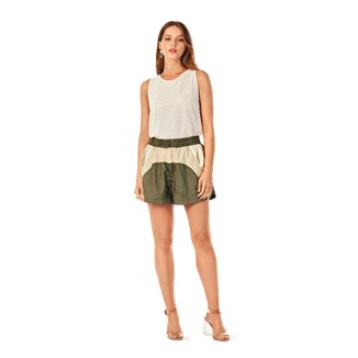 Iodice Shorts Iódice Boxer Composê De Tecidos Verde