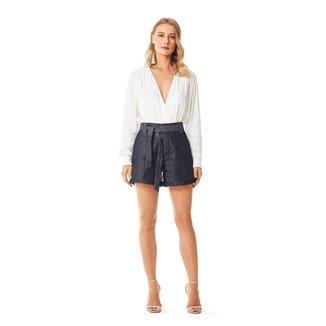 Iodice Shorts Iódice Clochard Com Faixa Jeans