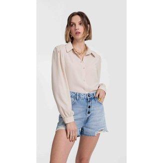 Iodice Shorts Iódice Five Pockets Com Botões Jeans