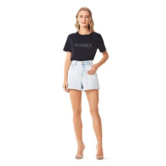Iodice Shorts Iódice Linha A Barra Desfiada Jeans