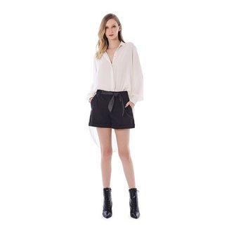 Iodice Shorts Iódice Linha A Bolso Faca Preto
