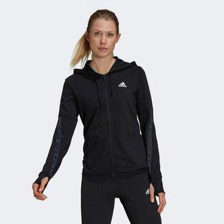 Jaqueta Adidas D2M Com Capuz Feminina
