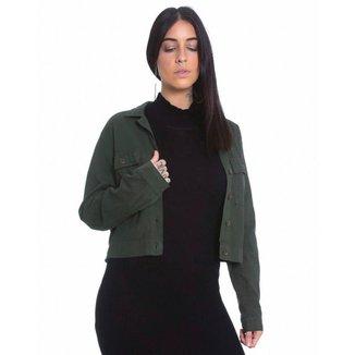 Jaqueta Bomber de Sarja Le Julie Feminina
